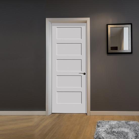 #8405 Trimlite MDF Primed Shaker Panel Interior Door