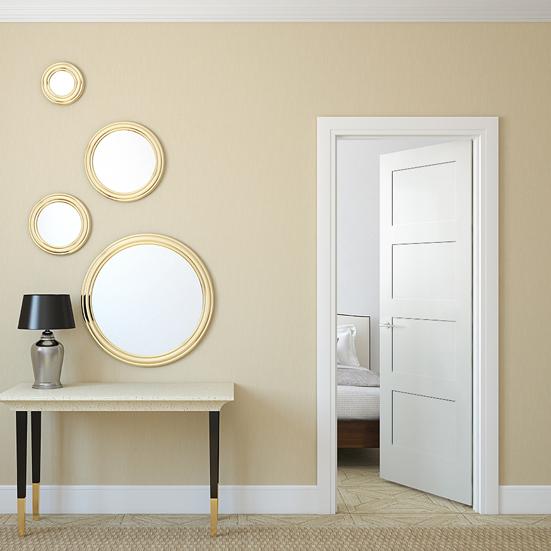 #8444 Trimlite MDF Primed Shaker Panel Interior Door